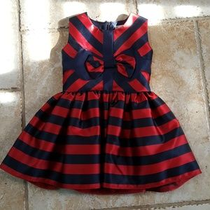 Halabaloo Other - Toddler Girl Navy and Red Dress