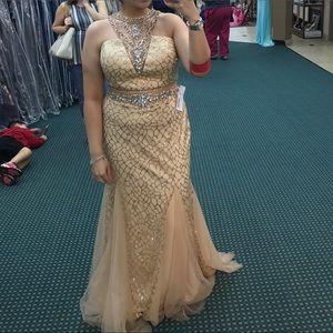 Mori Lee Dresses & Skirts - Gold prom dress