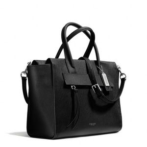Coach Bleecker Riley Carryall in black leather