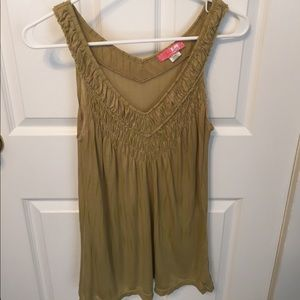 Lux Tops - Lux Greenish Gold Top, Size L