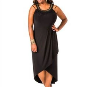 Ashley Stewart Dresses & Skirts - Beaded neck Maxi Dress