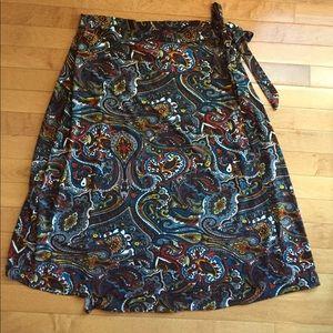 Ashley Stewart Dresses & Skirts - Ashley Stewart Size 14/16 Beautiful Wrap Skirt