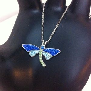 boutique Jewelry - Adorable shimmering dragonfly necklace