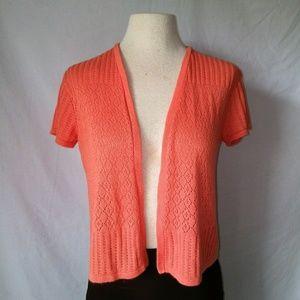 Kim Rogers Sweaters - KIM Rogers Coral Knit Shrug