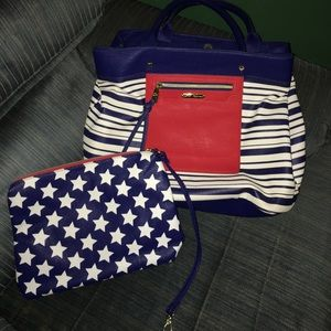 Betsey Johnson Tote and Accessory Bag