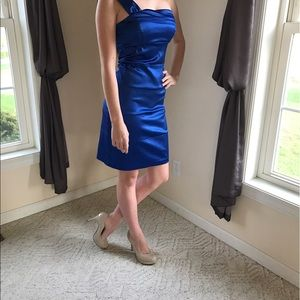 Ruby Rox Dresses & Skirts - Blue Satin Cocktail/Party/Prom Dress