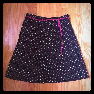 Black & Pink Polka Dot Skirt size 9