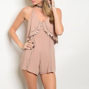 Other - ☀️back by popular demand! Coin romper w/ crochet