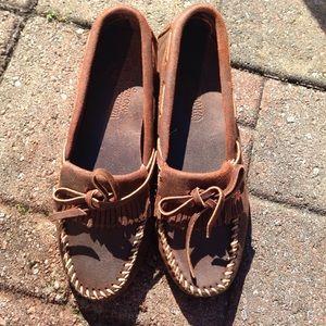 Minnetonka Shoes - Minnetonka Leather Moccasins