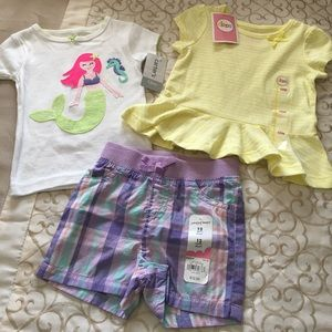 Other - 🌴NWT Set of 12 month summer clothing