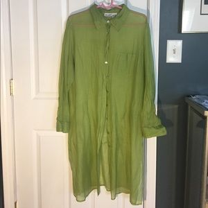 Light, airy tunic/long duster shirt