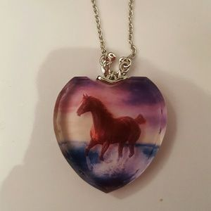 Jewelry - Horse Necklace with silver chain