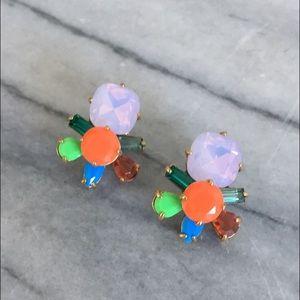 J. Crew Multicolor Crystal Cluster Earrings