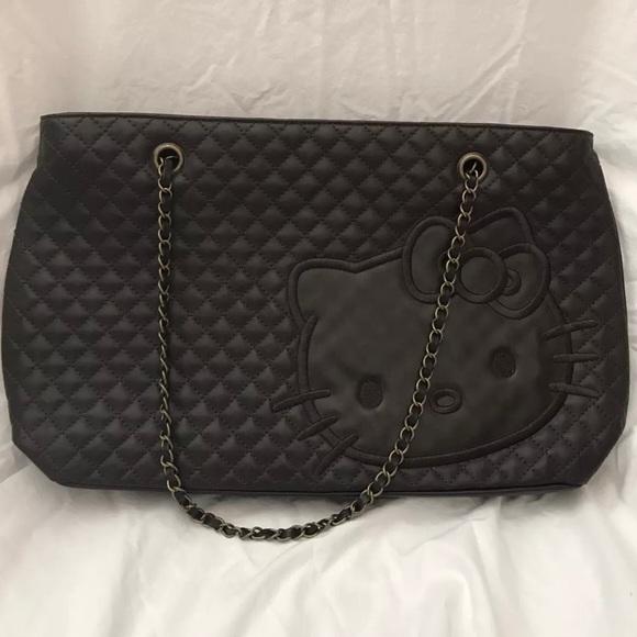 3c64a56c84 ... Hello Kitty Leather Quilted Handbag. M 58fcbc182fd0b76ca40e5f7c