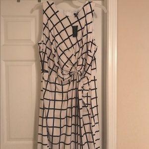 Ashley Stewart Dresses & Skirts - Ashley Stewart white/black dress size 18/20