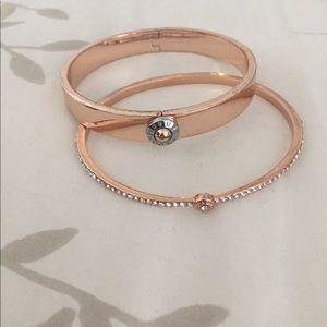 henri bendel Jewelry - Henri Bendel Rose gold bangles
