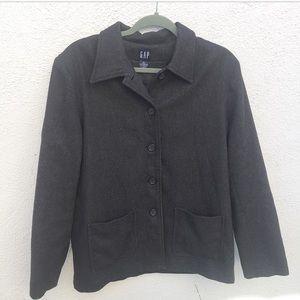 GAP Jackets & Blazers - Gap Gray Wool Oversized Coat Jacket