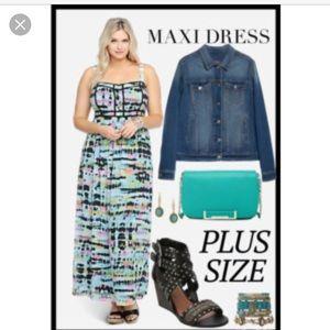 Torrid Tie Dye Chiffon Maxi Dress