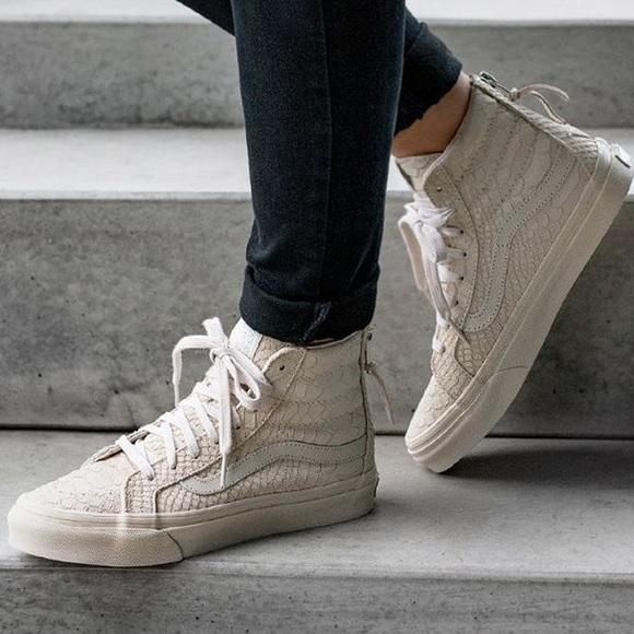 ebf24afcd4a9 💥SALE💥Vans Mono Python Zip High Top Sneakers