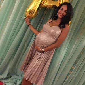 Topshop MATERNITY Dresses & Skirts - Pewter Metallic Topshop Maternity Dress