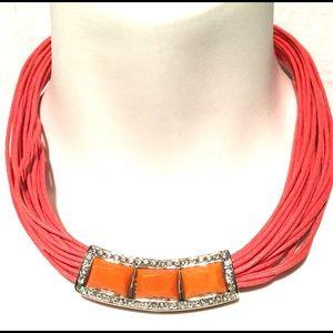 Jewelry - Coral Multi Strand Fashion Necklace