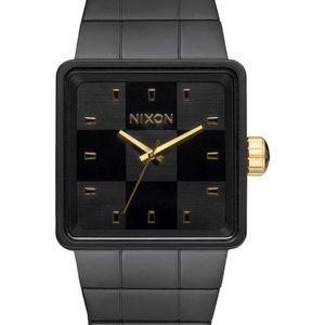 Nixon Other - Nixon Quarto Matte Black and Gold