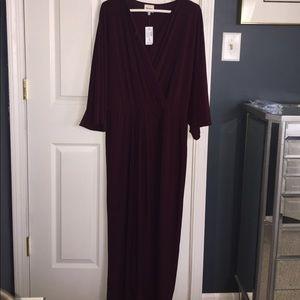 Ashley Graham Dresses & Skirts - Rich burgundy maxi