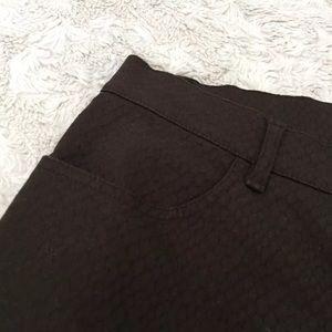 Lafayette 148 New York Denim - Chocolate Brown Animal Print Textured Skinny Jeans
