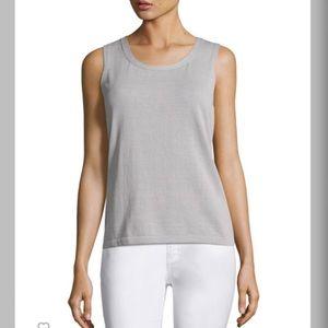 Lafayette 148 New York Tops - - Lafayette 148 - Pink sleeveless cotton shell