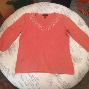 Designers Originals orange sweater size small