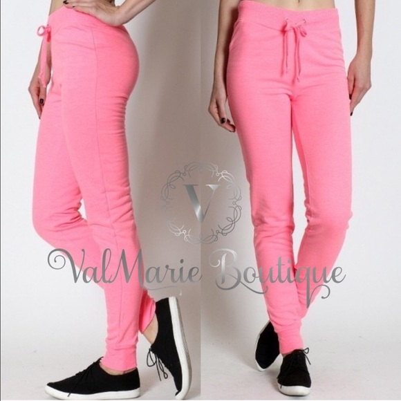 ValMarie Boutique Pants - NEON PINK CLASSIC SWEATPANTS