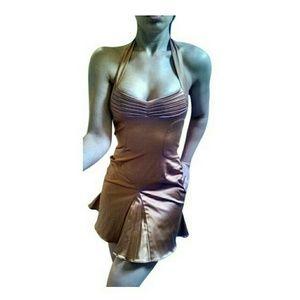Zac Posen Dresses & Skirts - Zac Posen Bronze Pleated Fit & Flair Dress SZ 8 6