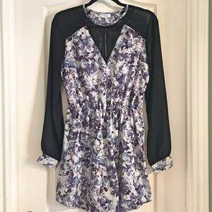 Marabelle Dresses & Skirts - Marabelle Purple Floral Long Sleeve Dress