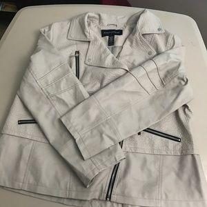 Ashley Stewart Jackets & Blazers - Ashley Stewart beige winter coat size 2x