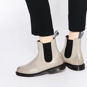 NWOB Dr. Martens Grey Flora Chelsea Boots