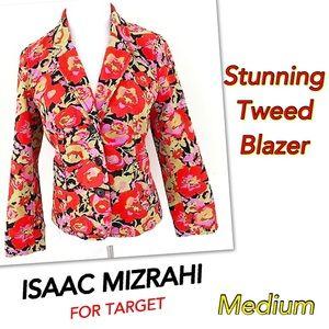 Isaac Mizrahi Jackets & Blazers - ⤵️STUNNING ISAAC MIZRAHI Target Floral Blazer M