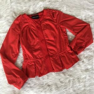 Emporio Armani Jackets & Blazers - Emporio Armani Red Cotton Jacket