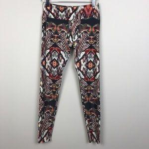 Onzie Pants - [Onzie] Jamaica Feather Print Long Yoga Leggings
