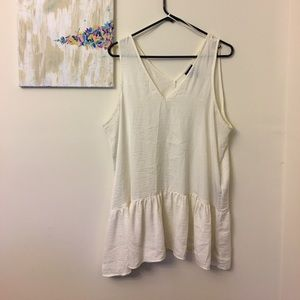 Who What Wear Tops - Cream/ Off White Colored Silk Tank