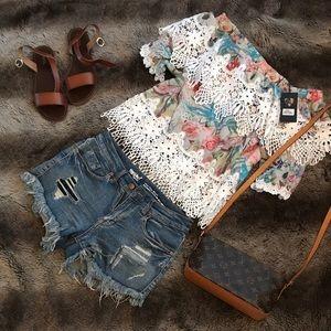 Pastels Clothing Tops - Off shoulder top