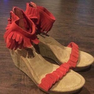 Minnetonka Shoes - New Minnetonka Fringe Wedges
