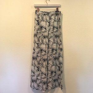 Asos Black and white palm print maxi skirt