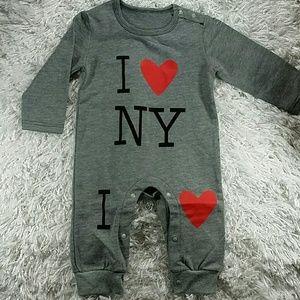 "Other - Gray ""I Love NY"" Bodysuit.  Kids"