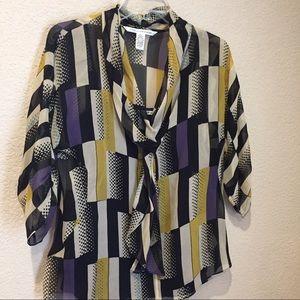 Diane von Furstenberg Tops - DVF Diane Von Furstenberg silk blouse