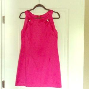 Hot pink cutout dress 