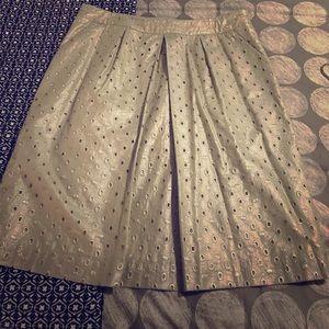 Boden Dresses & Skirts - ❤️🌸 Gorgeous Boden metallic sheen eyelet skirt.