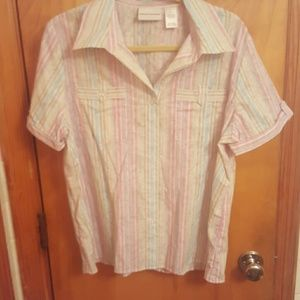 Alfred Dunner Tops - Never Worn Alfred Dunner button down size 16