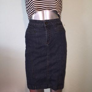 Lucky Brand denim pencil skirt