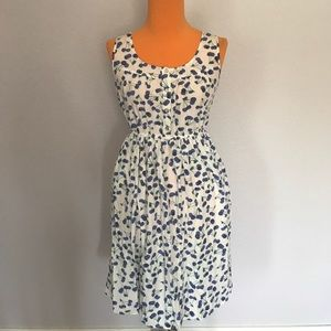 Maison Jules Dresses & Skirts - Maison Jules Cherry Blue and White Button Sundress