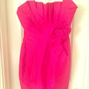 Fuchsia Short Cocktail Dress from Sax SZ Small